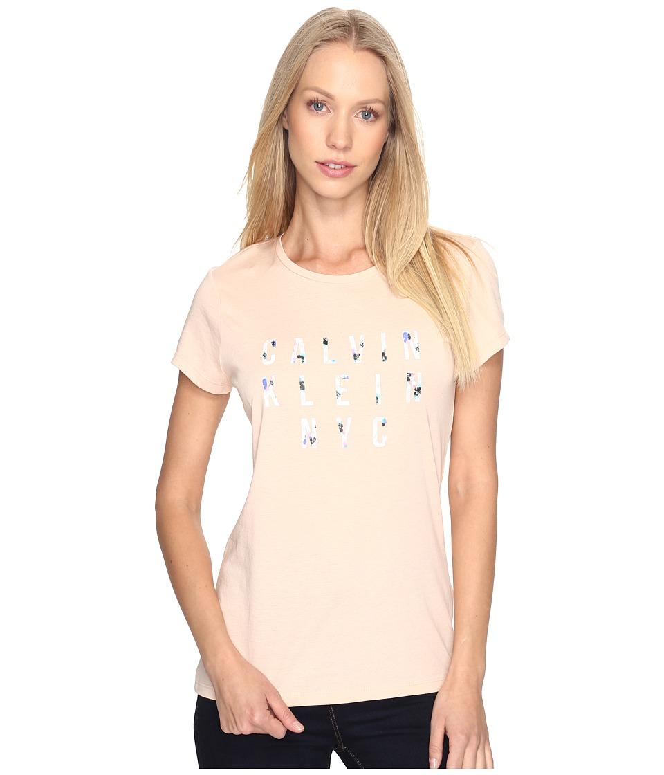 Calvin Klein Jeans Printed HD Iconic Logo Tee (Spanish Villa) Women