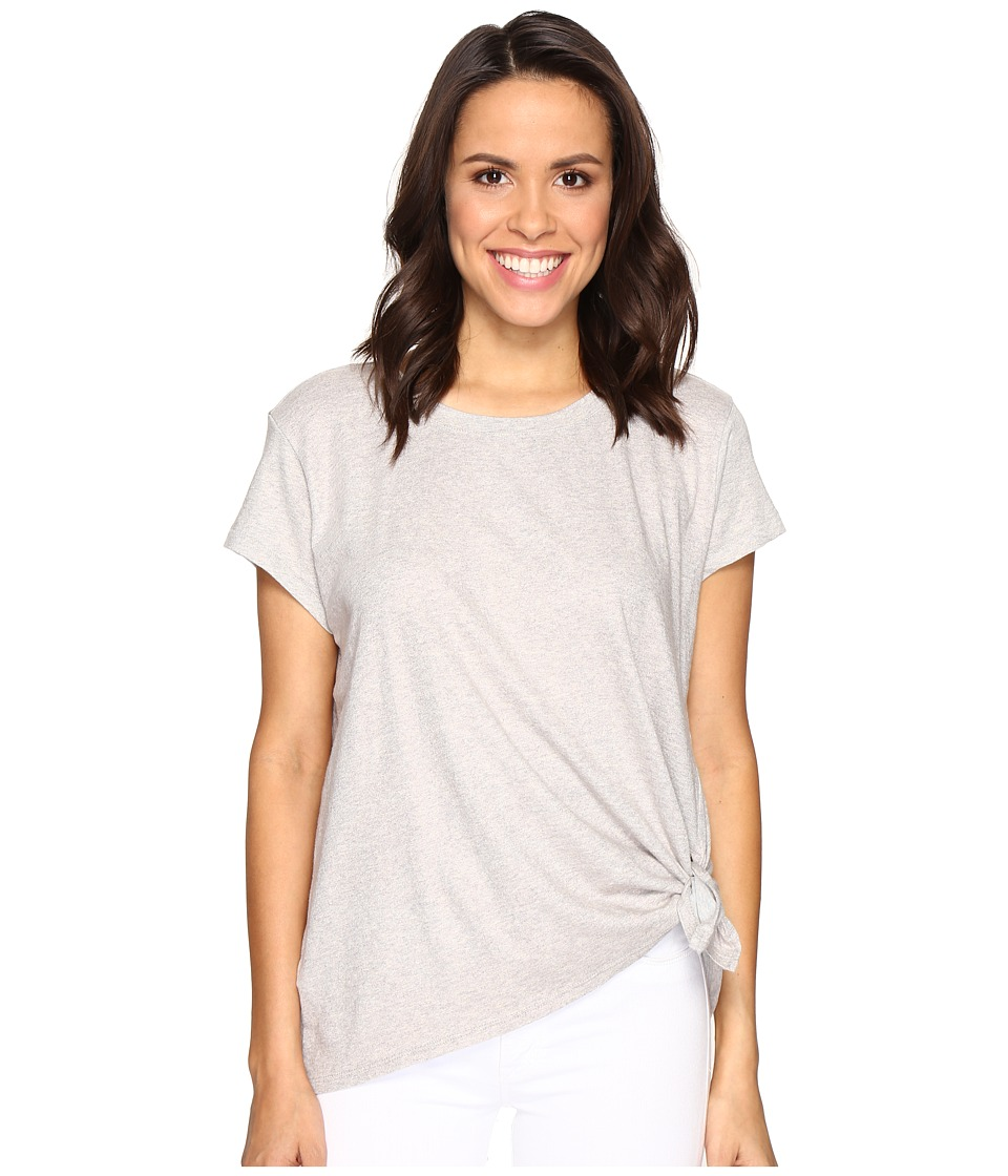 Calvin Klein Jeans Heather Foiled Tie Knot Tee (Silver Cloud Heather) Women