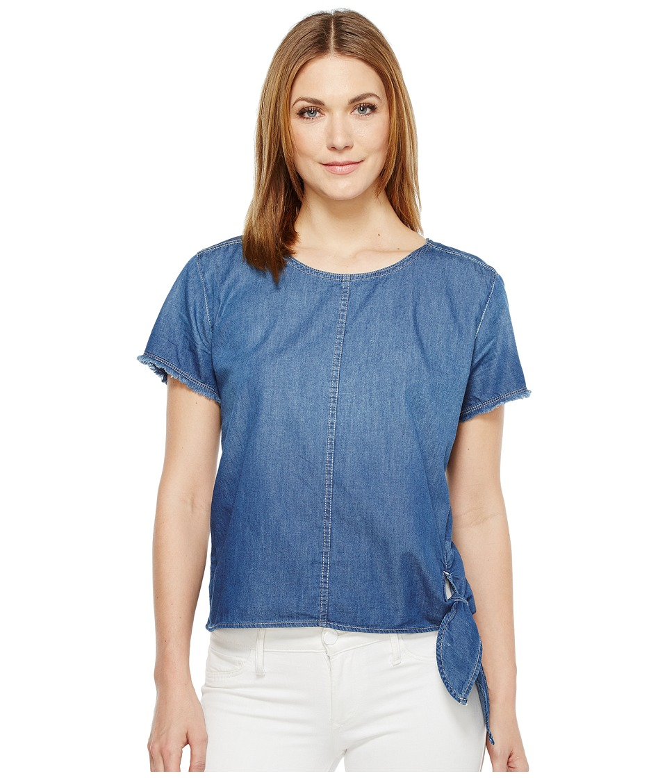 Calvin Klein Jeans Raw Edge Denim T-Shirt (Brady Mid) Women