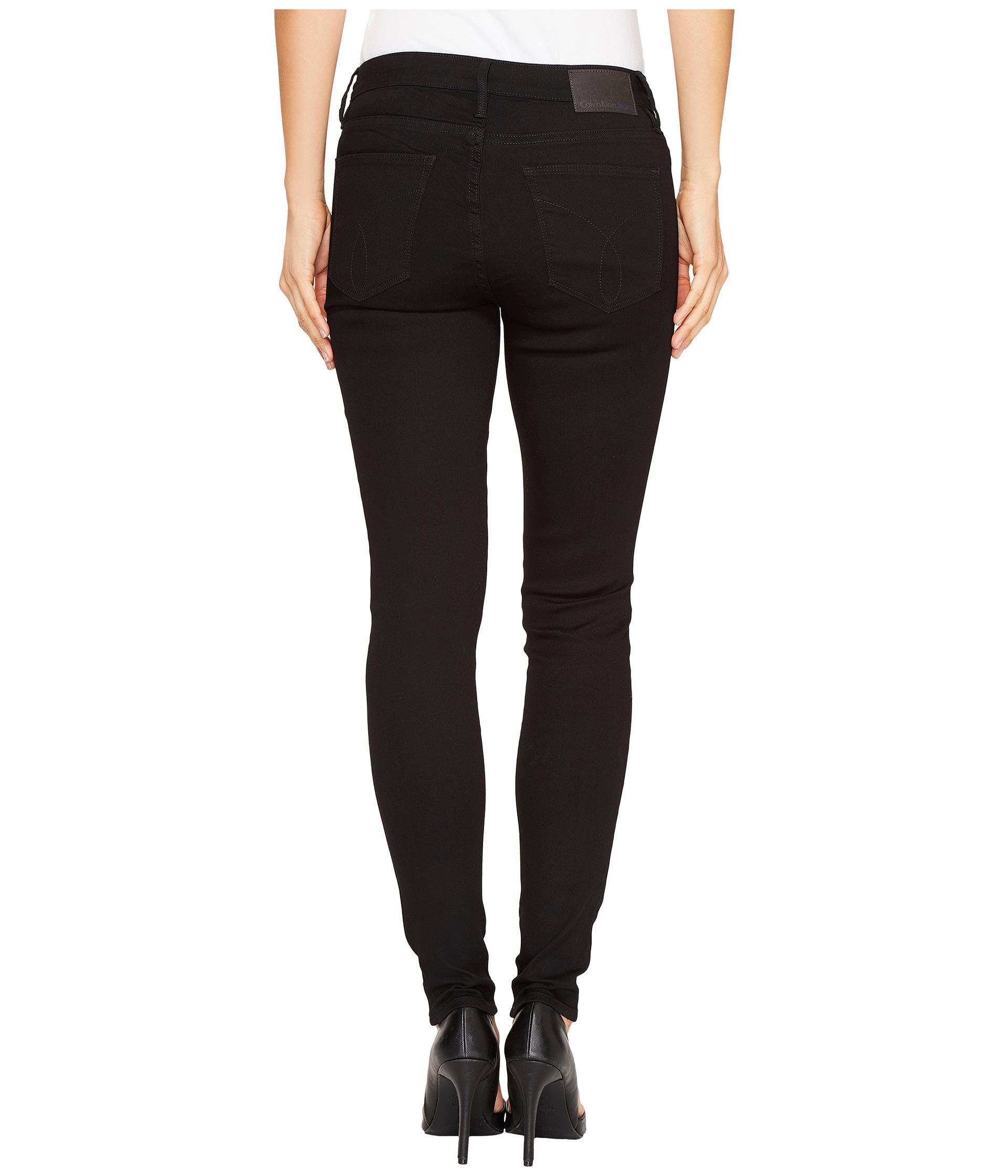 calvin klein jeans leggings jeans in black wash at. Black Bedroom Furniture Sets. Home Design Ideas