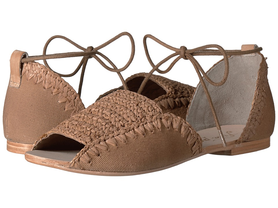 Free People Beaumont Woven Flat (Taupe) Women