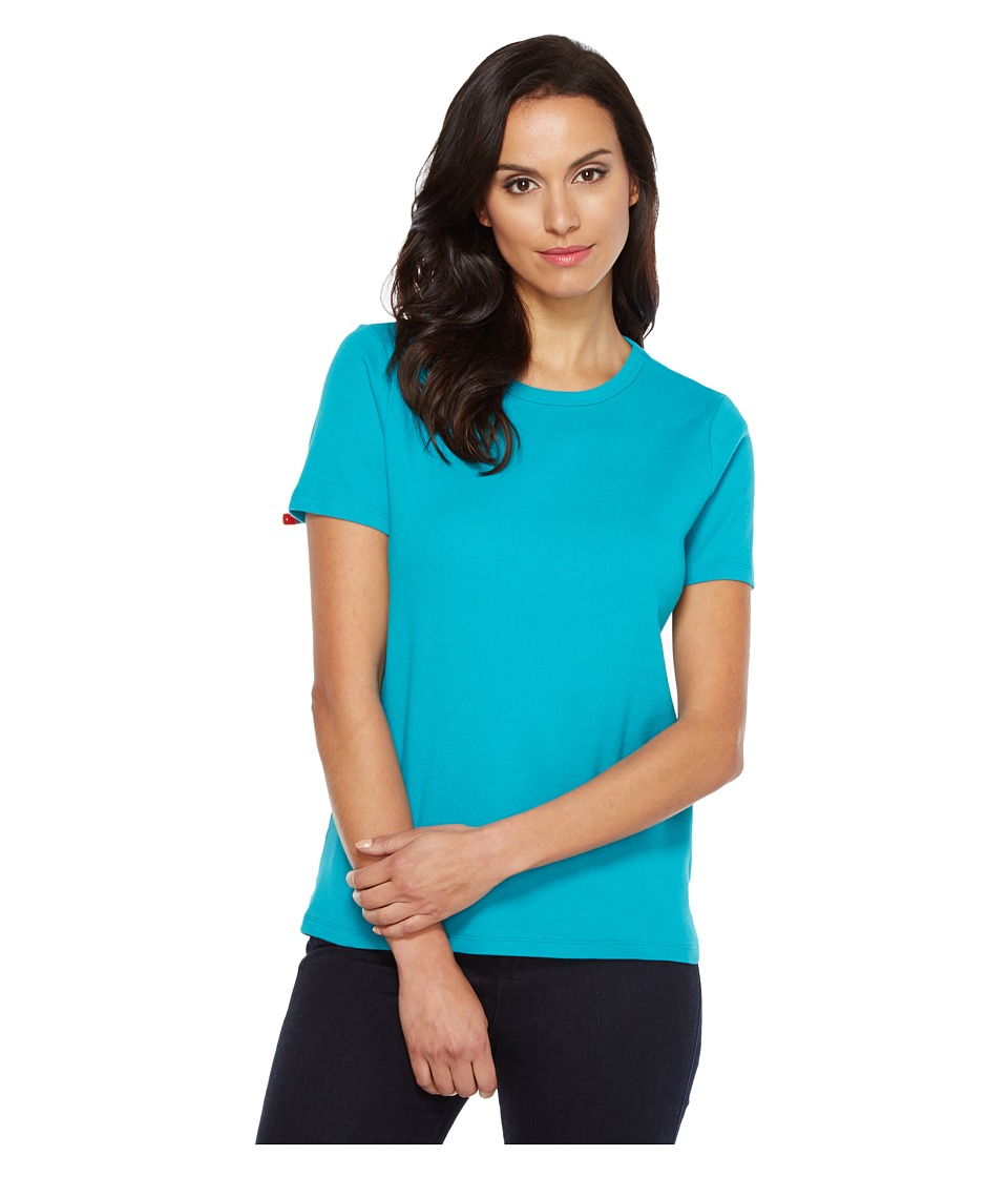 Pendleton S/S Rib Tee (Tile Blue) Women
