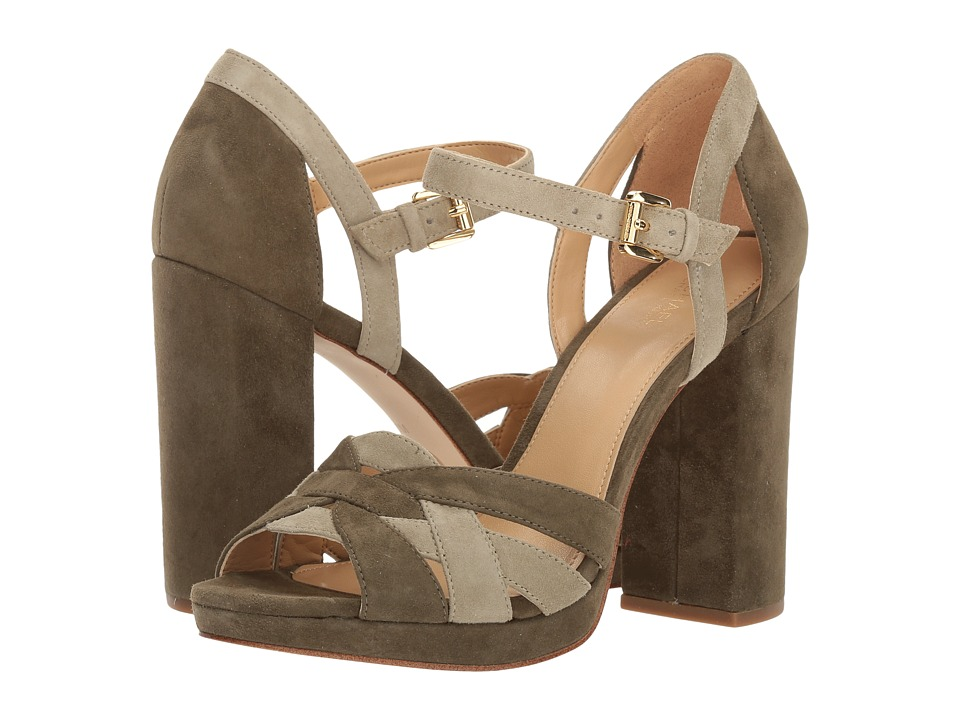 Michael Kors Annaliese Platform (Olive/Sage) Women's Shoes
