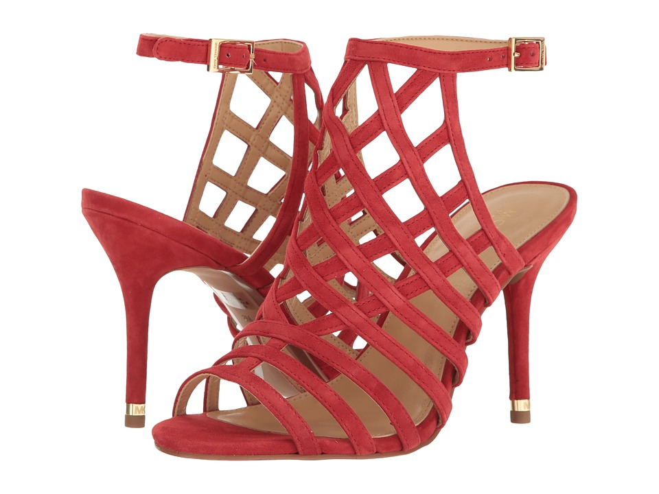 Michael Kors Trinity Sandal (Bright Red) Women's Dress Sa...