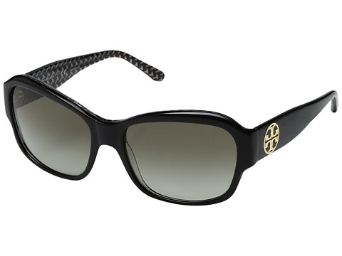 Tory Burch 0TY7107 57mm - Black/White Zigzag/Green Gradient