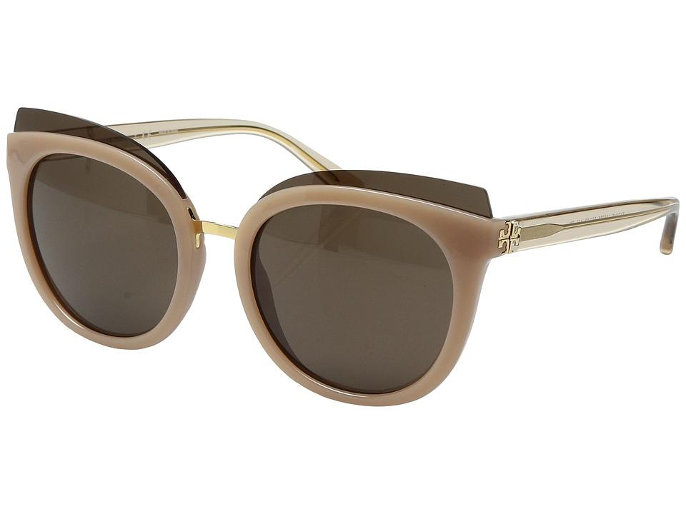 Tory Burch 0TY9049 53mm (Blush/Brown Solid) Fashion Sungl...