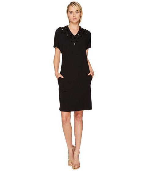 ESCADA Diflora Embellished Neckline Dress