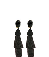 Oscar de la Renta - Layered Horsehair C Earrings
