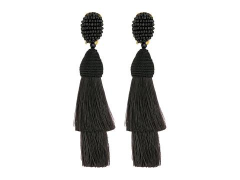 Oscar de la Renta Layered Horsehair C Earrings - Black