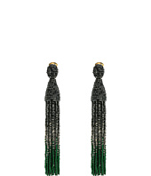 Oscar de la Renta - Long Ombre Beaded Tassel C Earrings