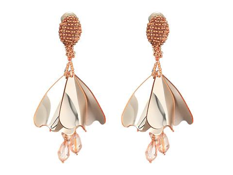 Oscar de la Renta Mini Impatiens Flower Drop C Earrings