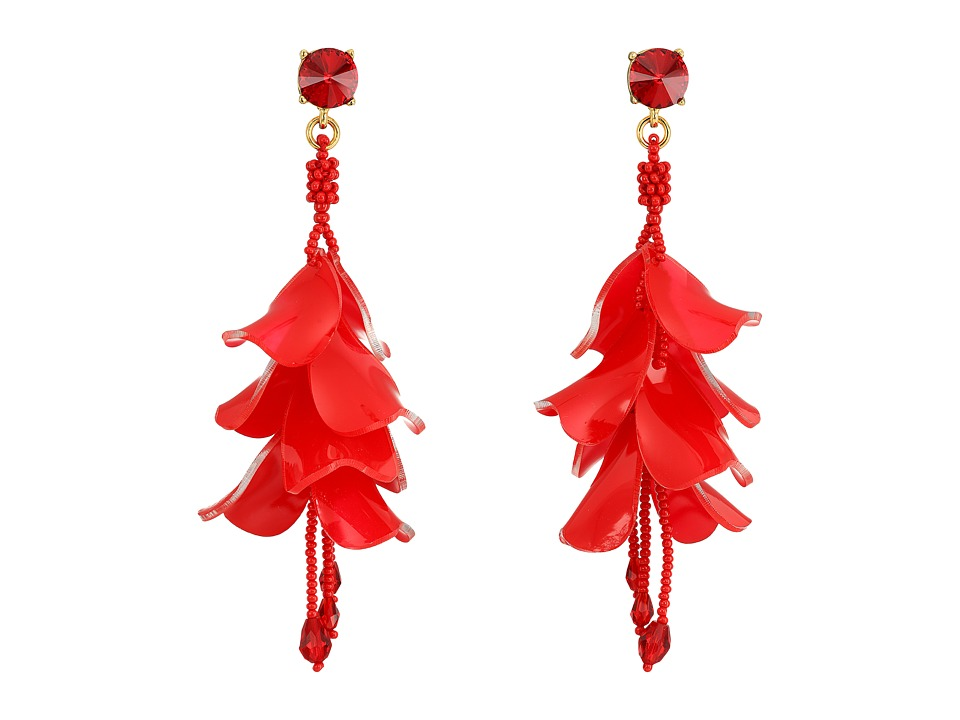 Oscar de la Renta Waterfall Opaque P Earrings (Garnet) Ea...