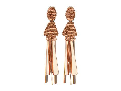Oscar de la Renta Opaque Tassel C Earrings - Rose Gold
