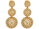 Oscar de la Renta - Pave Crystal Dome Drop C Earrings