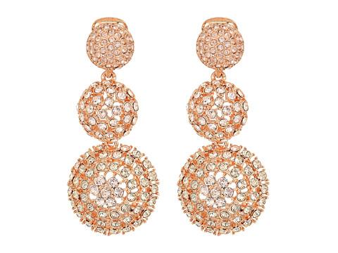 Oscar de la Renta Pave Crystal Dome Drop C Earrings