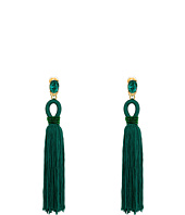 Oscar de la Renta - Long Silk Tassel C Earrings