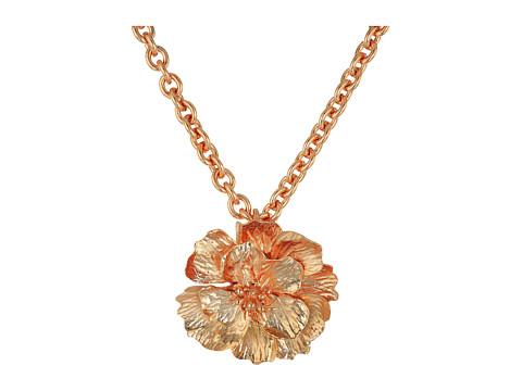 Oscar de la Renta Bold Flower Brooch - Rose Gold