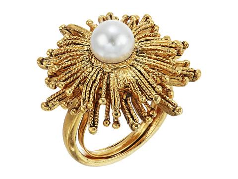 Oscar de la Renta Pearl Sun Star Ring - White