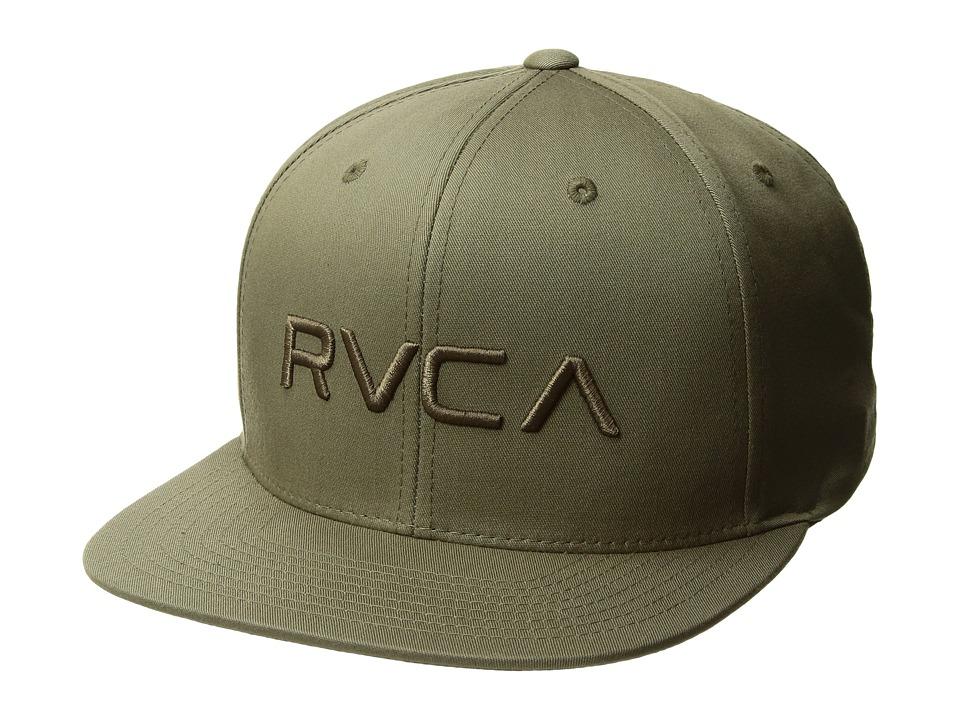 RVCA - Twill Snapback (Olive) Baseball Caps