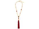 Oscar de la Renta - Crystal and Resin Tassel Pendant Necklace