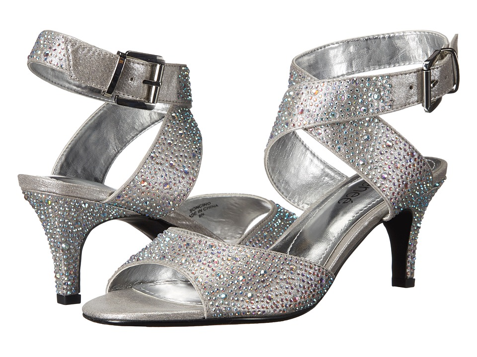 J. Renee Soncino (Silver Rhinest) Women's Shoes