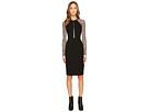 YIGAL AZROUËL - Long Sleeve Mechanical Stretch Dress