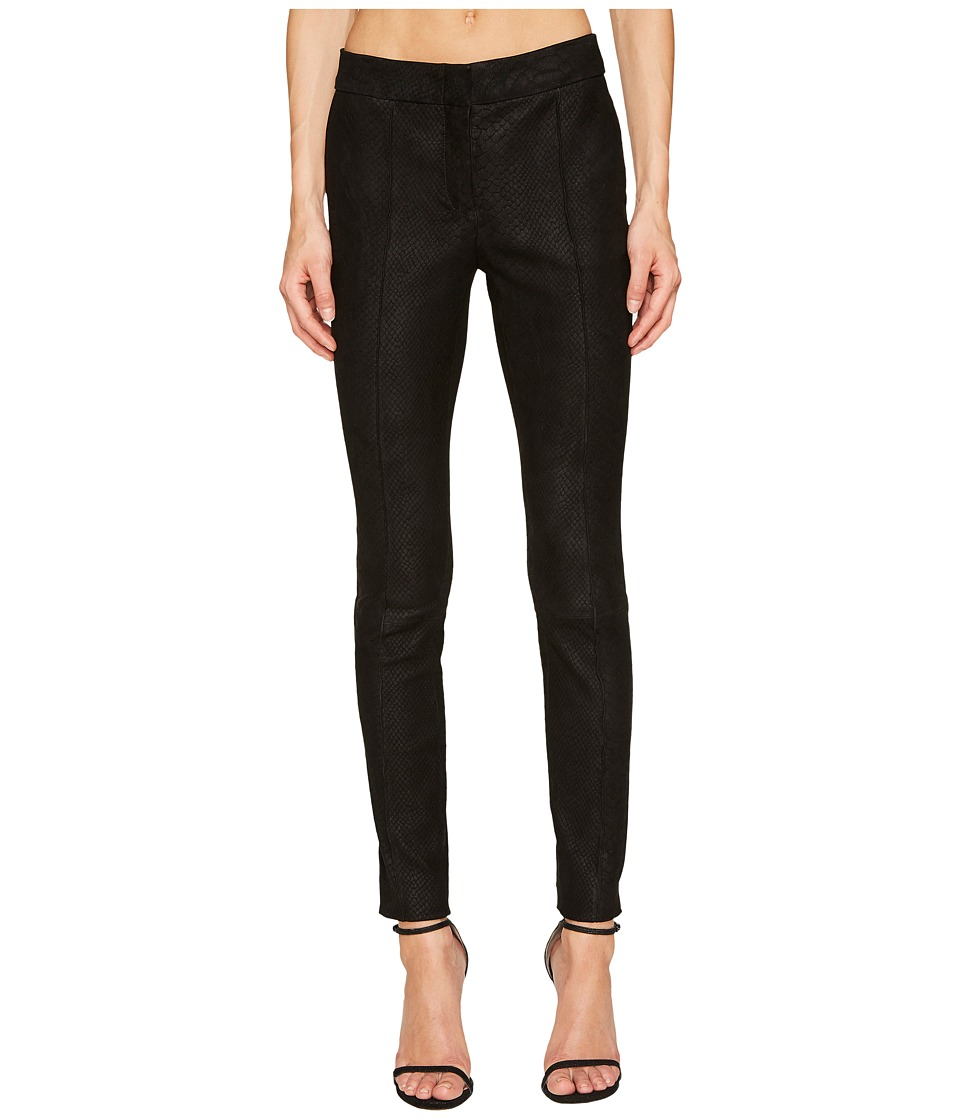 YIGAL AZROUEL - Snakeskin Embossed Leather Pants