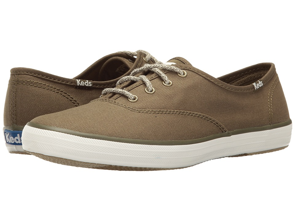 Keds Champion Seasonal Solid (Olive) Women