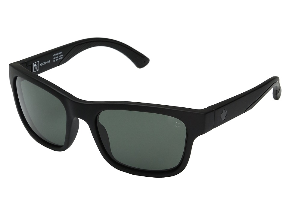 Spy Optic Hunt (Matte Black/Happy Gray/Green) Athletic Performance Sport Sunglasses