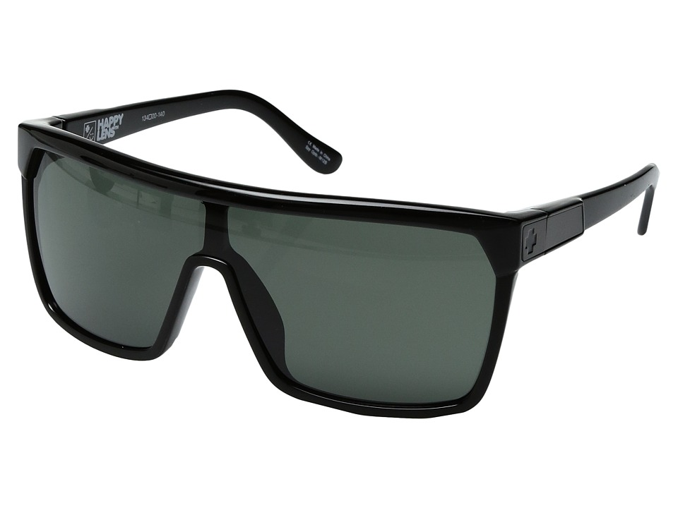 Spy Optic Flynn (Shiny Black/Matte Black/Happy Gray/Green) Sport Sunglasses