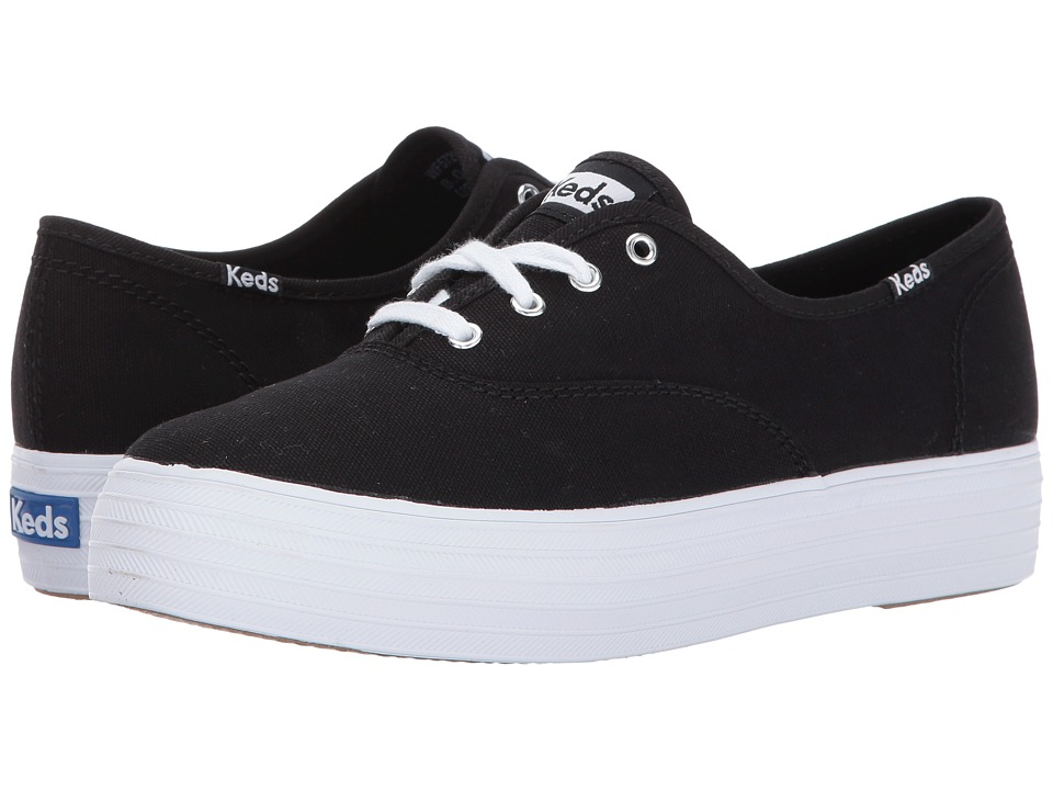 Keds - Triple Core (Black/White) Womens Lace up casual Shoes