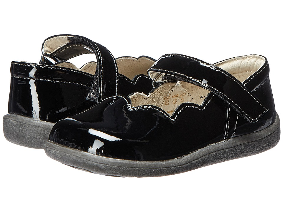 See Kai Run Kids Savannah (Toddler) (Black Patent) Girls Shoes