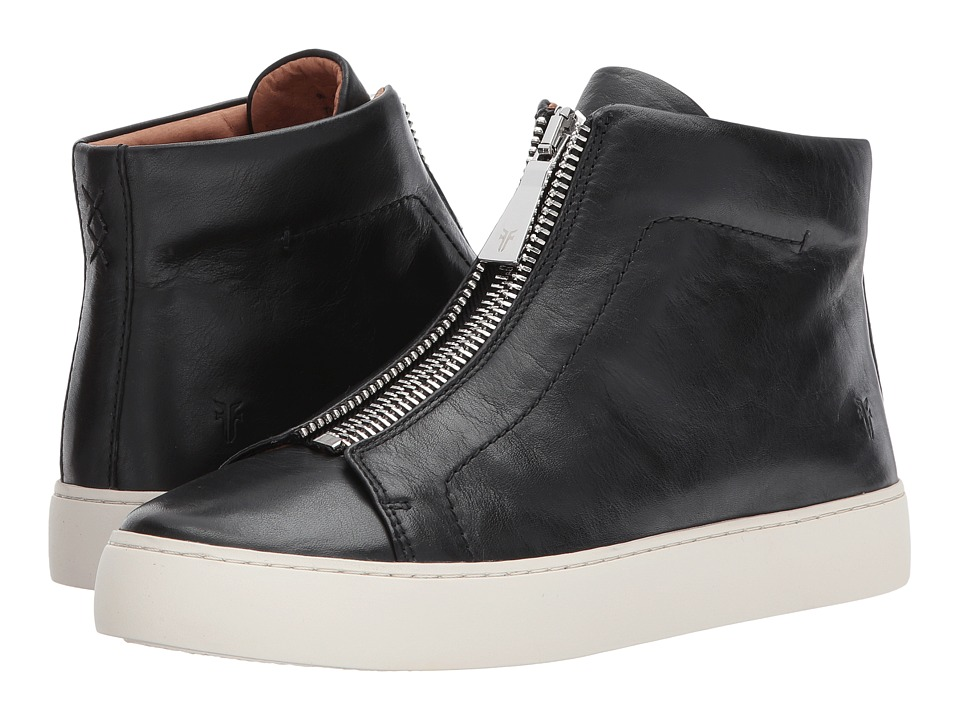 Frye Lena Zip High (Black Polished Soft Full Grain)
