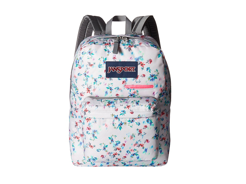 JanSport Digibreak (Multi Grey Floral Haze) Backpack Bags