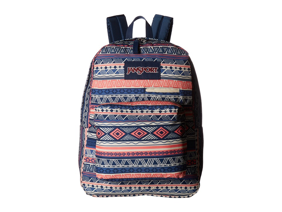 JanSport Digibreak (Navy Color Geo) Backpack Bags