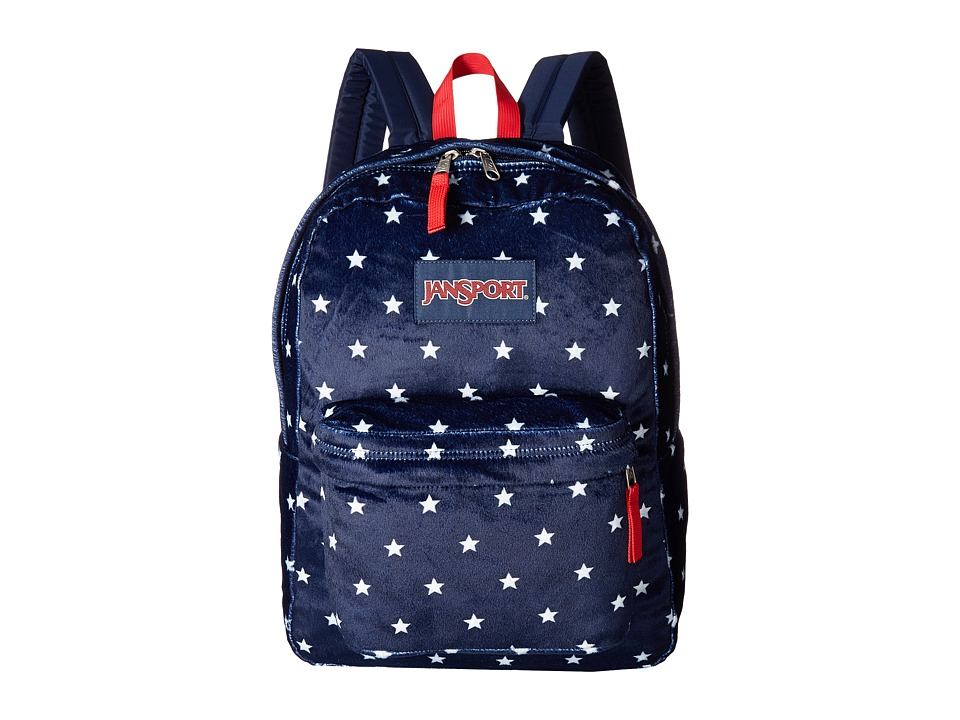 JanSport High Stakes (Navy Moonshine Star Spangled Plush) Backpack Bags