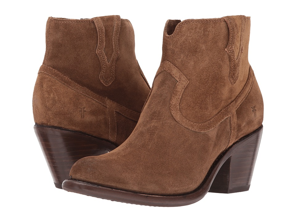 Frye Lillian Western Bootie (Chestnut Soft Oiled Suede) Women