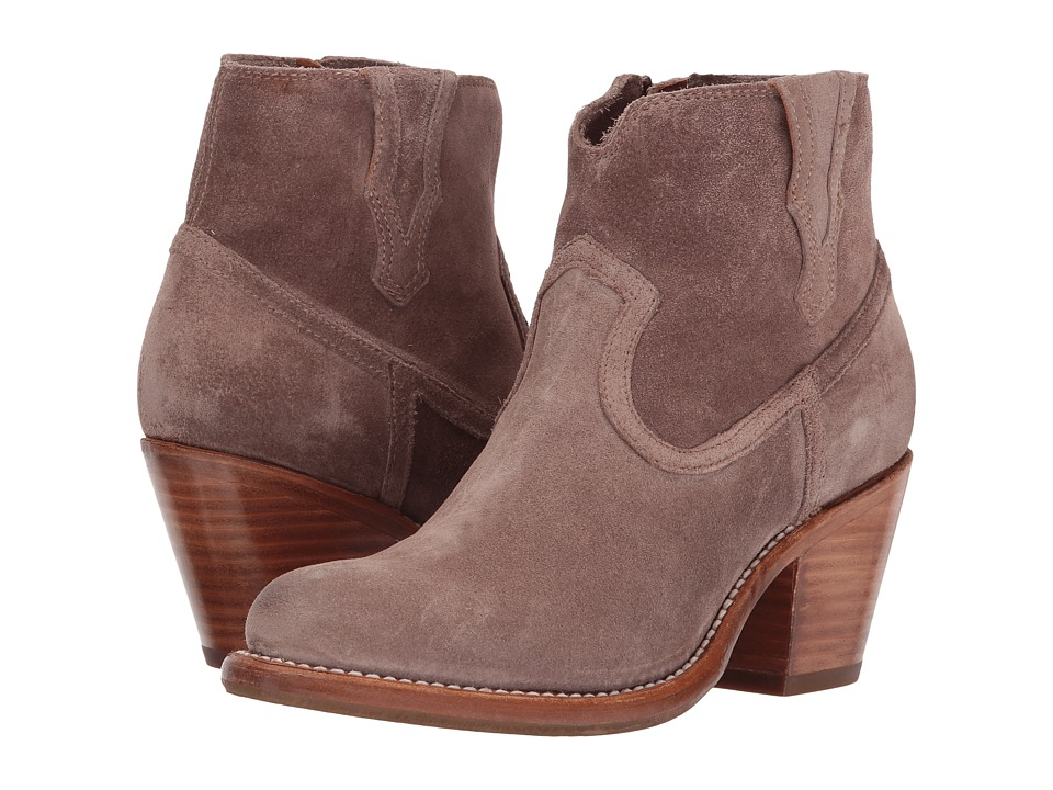 Frye Lillian Western Bootie (Dusty Rose Soft Oiled Suede) Women