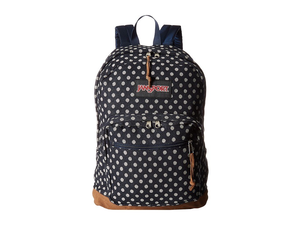 JanSport Right Pack Expressions (Navy Twiggy Dot Jacquard) Backpack Bags
