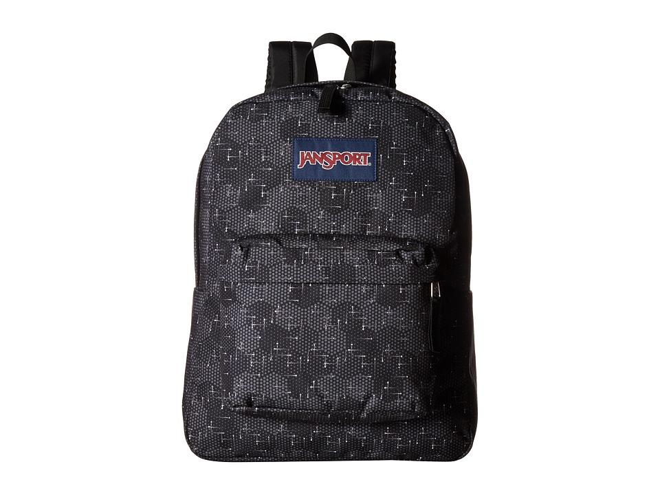 JanSport SuperBreak Multi Moving Dots Backpack Bags