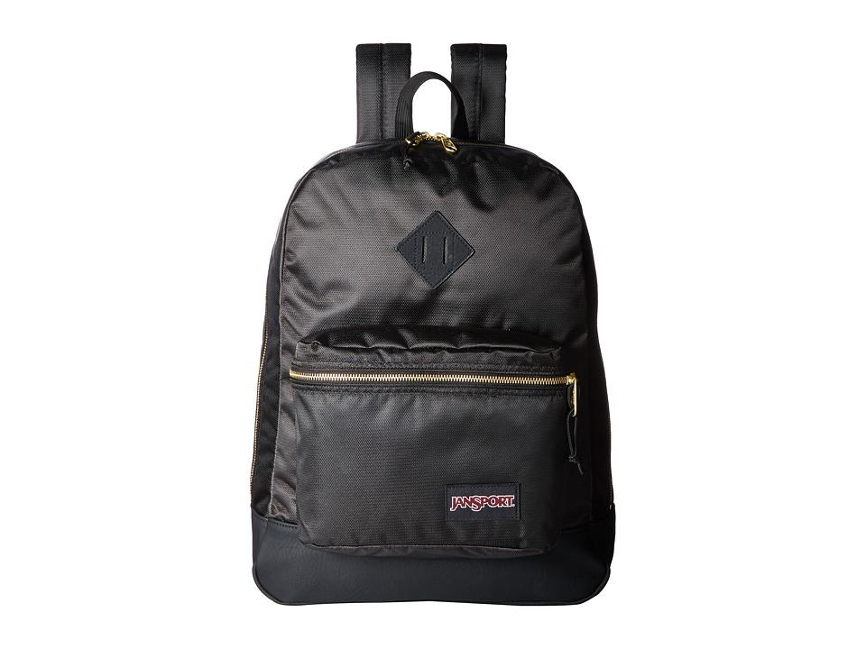 JanSport - Super FX (Black/Gold) Backpack Bags