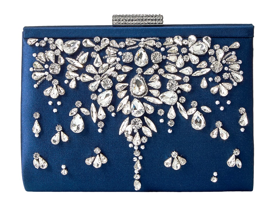 Badgley Mischka Adele (Navy) Clutch Handbags