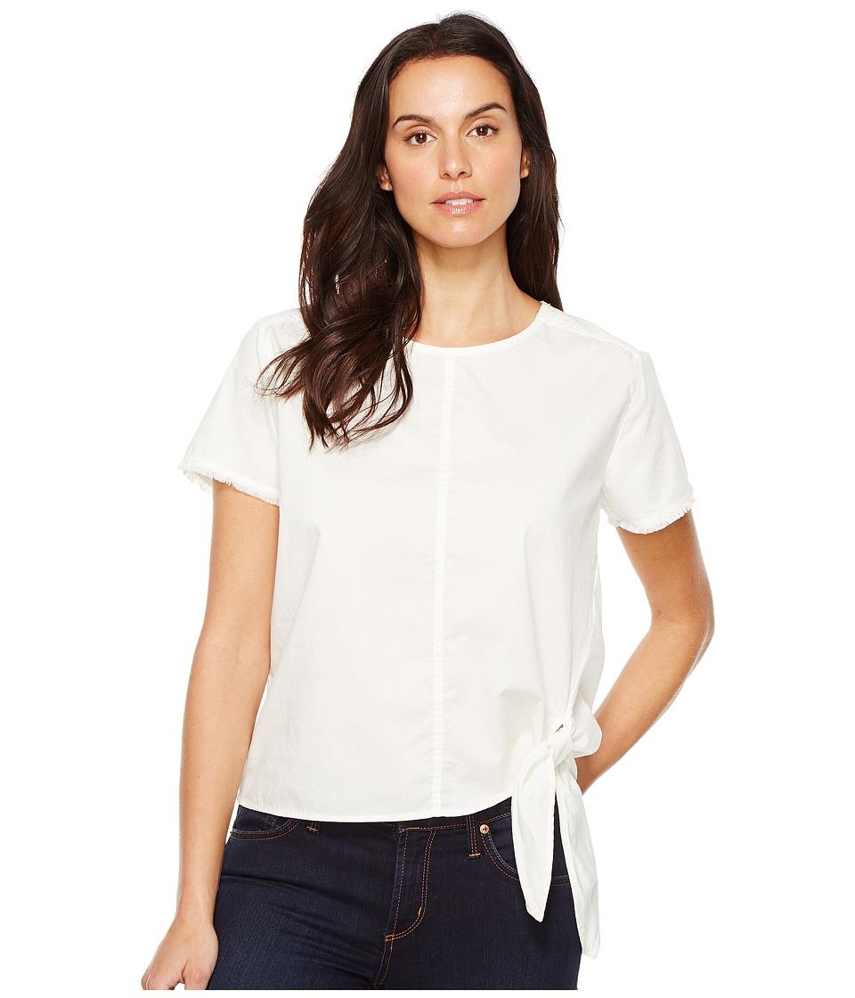 Calvin Klein Jeans Poplin Tie Tee (White Wash) Women