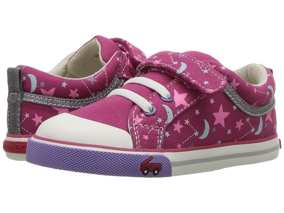 See Kai Run Kids Kristin (Toddler) (Berry/Stars) Girl's Shoes