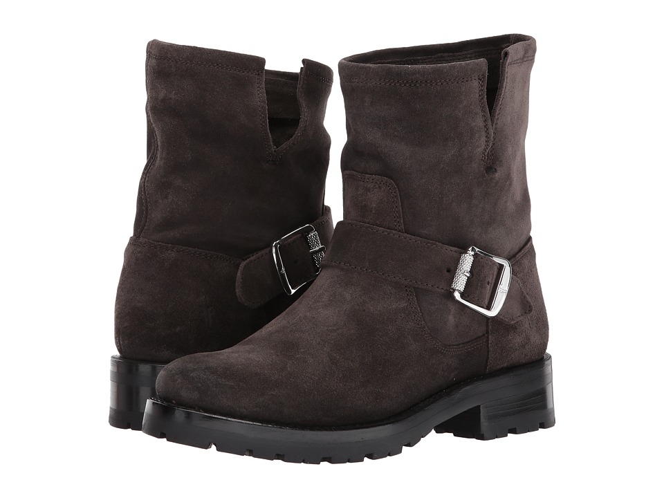 Frye - Natalie Short Engineer Lug (Charcoal Soft Oiled Suede) Womens Pull-on Boots