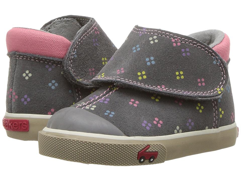 See Kai Run Kids Monroe (Toddler) (Gray Suede) Girl's Shoes