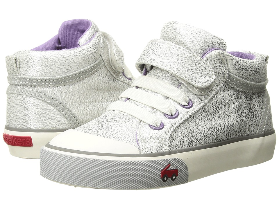 See Kai Run Kids Peyton (Toddler/Little Kid) (Silver Glitter) Girls Shoes