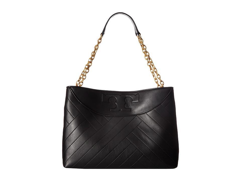 Tory Burch Alexa Slouchy Tote (Black) Tote Handbags