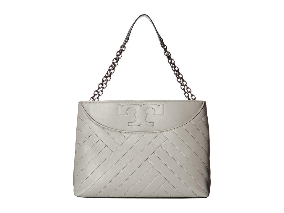 Tory Burch Alexa Slouchy Tote (Concrete) Tote Handbags
