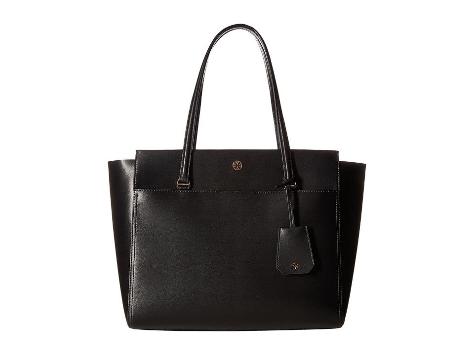 Tory Burch Parker Tote (Black/Cardamom) Tote Handbags